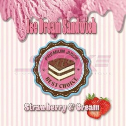 Strawberry & Cream - Ice Dream Sandwich