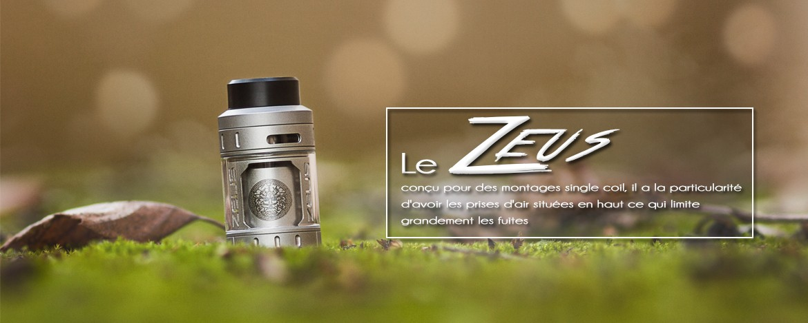 Atomiseur ZEUS, disponible chez Smoke Machine !