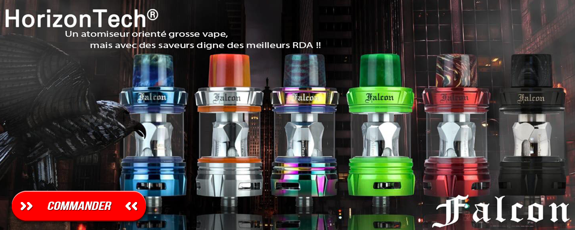 Atomiseur HorizonTech Falcon, disponible chez Smoke Machine !